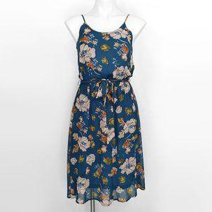 Forever 21 Flower Print Fit n Flare Sun Dress S